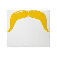 Mustache-085-B Throw Blanket