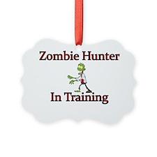 Zombie Hunter in training Ornament