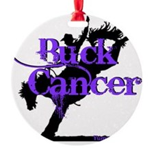 Buck Cancer Round Ornament