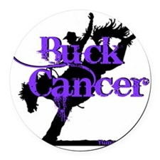 Buck Cancer Round Car Magnet