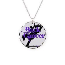 Buck Cancer Necklace