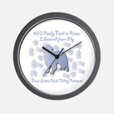 Learned Toller Wall Clock