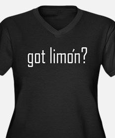 Got Limon? Women's Plus Size V-Neck Dark T-Shirt
