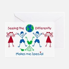 Seeing the World Differently, Autism Greeting Card