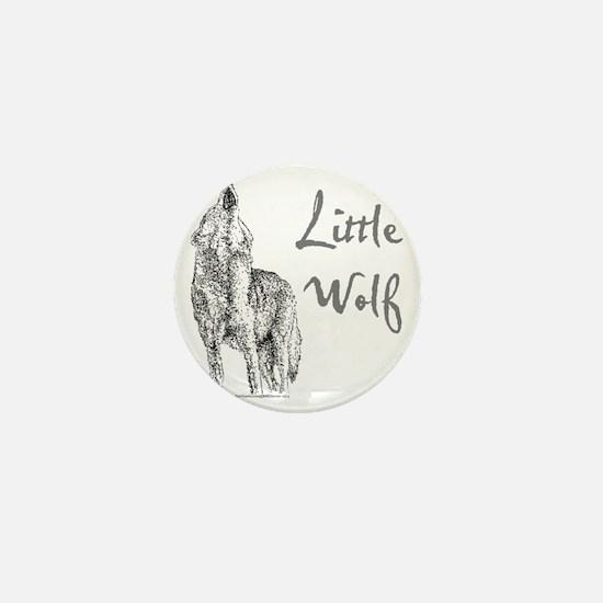 Little Wolf Mini Button