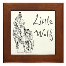 Little Wolf Framed Tile