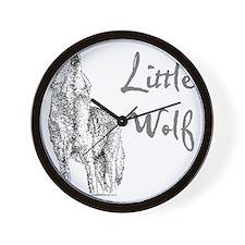 Little Wolf Wall Clock