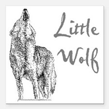 """Little Wolf Square Car Magnet 3"""" x 3"""""""