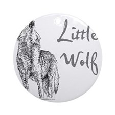 Little Wolf Round Ornament