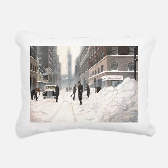Blizzard on Bay Rectangular Canvas Pillow