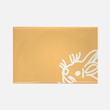 Bunny Sticky Note Rectangle Magnet