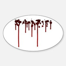 Blood Drips Oval Decal