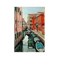 Venetian Cityscape Rectangle Magnet