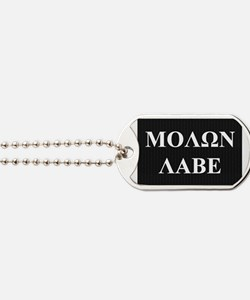 Come and Take It (Molon Labe Honeycomb) Dog Tags