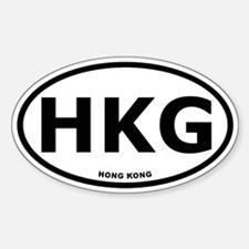 Hong Kong Oval Stickers