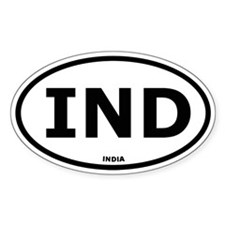 India Oval Stickers