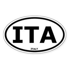 Italy Oval Stickers