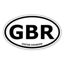 United Kingdom Oval Stickers