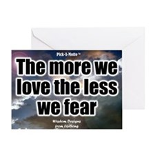 Love More Poster Greeting Card