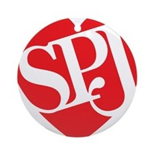 Red SPJ Love Round Ornament
