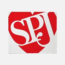 Red SPJ Love Throw Blanket