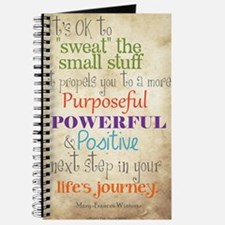 Work Word of the Day Sweat the Small Stuff Journal