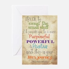 Work Word of the Day Sweat the Small Greeting Card