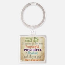 Work Word of the Day Sweat the Sma Square Keychain