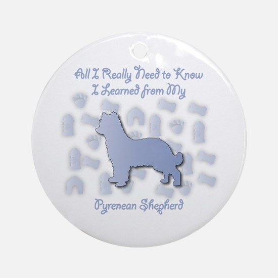 Learned Pyrenean Ornament (Round)