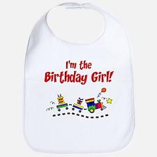 Train Birthday Girl Bib