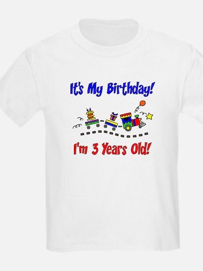 Train 3rd Birthday T-Shirt