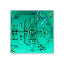 """Submarine Door Square Sticker 3"""" x 3"""""""