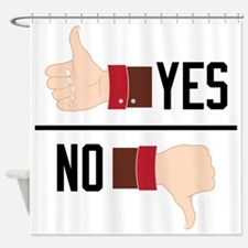 Yes or No Shower Curtain