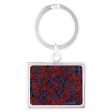 Sickle Cell Pain Awareness Landscape Keychain