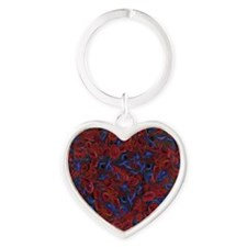 Sickle Cell Pain Awareness Heart Keychain