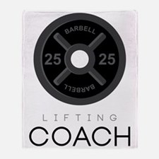 Lifting Coach Throw Blanket