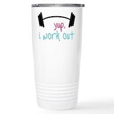 I Work Out Travel Mug