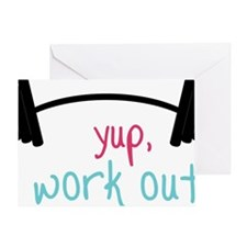 I Work Out Greeting Card