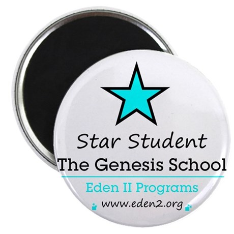 Genesis School Star Student, Blue Magnet