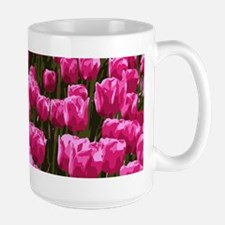 Pretty Pink Tulips Large Mug