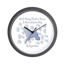 Learned Schapendoes Wall Clock
