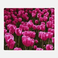 Pretty Pink Tulips Throw Blanket