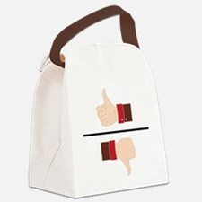 Thumbs Up or Down? Canvas Lunch Bag