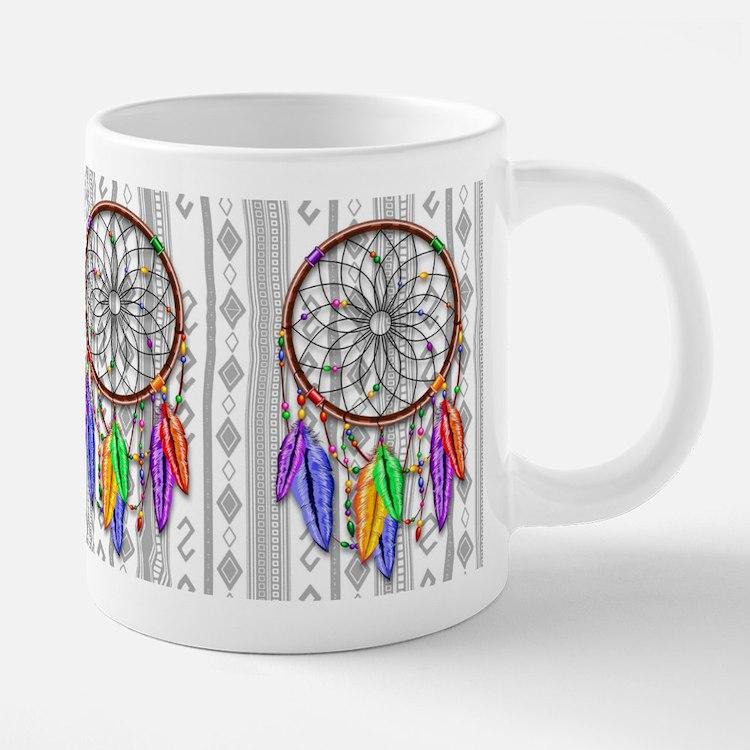 Dreamcatcher Rainbow Feathers Mugs