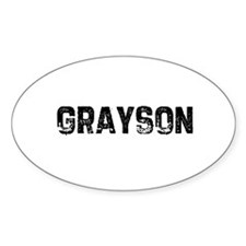 Grayson Oval Decal