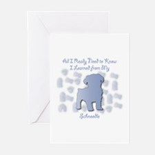 Learned Schnoodle Greeting Cards (Pk of 10)