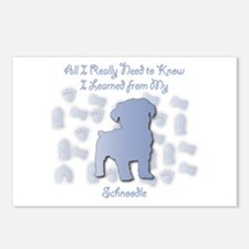 Learned Schnoodle Postcards (Package of 8)