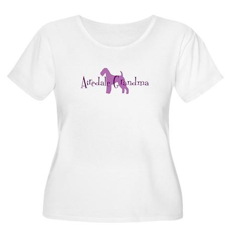 Airedale Grandma Women's Plus Size Scoop Neck T-Sh