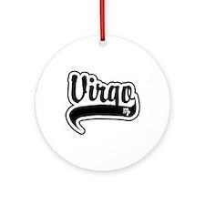 """Virgo"" [Baseball/Black] Ornament (Round)"