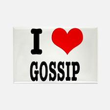 I Heart (Love) Gossip Rectangle Magnet